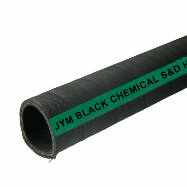 Black chemical suction and discharge hose