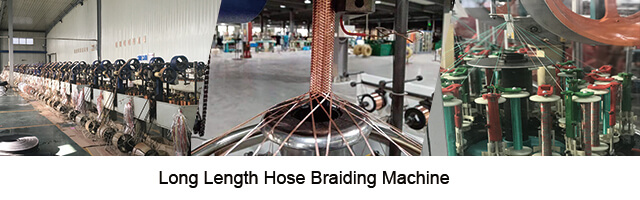 Extruded long length hose production line