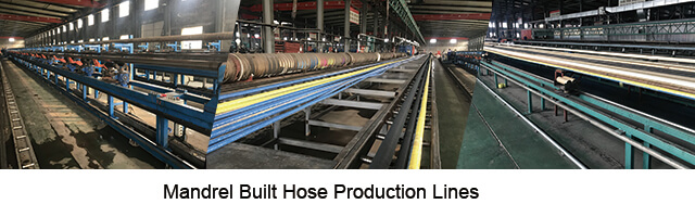 Mandrel industrial hose production line