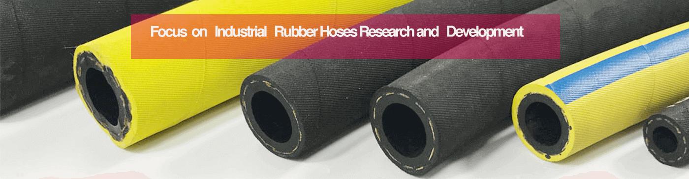 Textile reinforced rubber hose